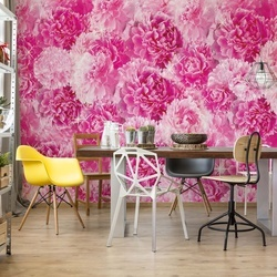 Pretty Pink Flowers Photo Wallpaper Wall Mural
