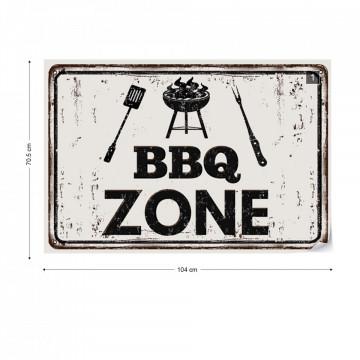 "Retro Sign ""Bbq Zone"" Photo Wallpaper Wall Mural"
