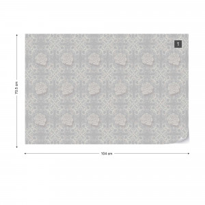 Roses Floral Pattern Photo Wallpaper Wall Mural
