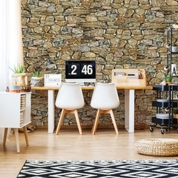 Rustic Stone Wall Photo Wallpaper Wall Mural
