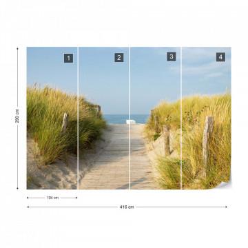 Sand Dune Path To The Beach Coastal Photo Wallpaper Wall Mural