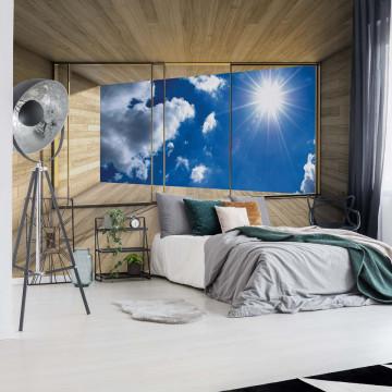 Sky 3D Modern Window View Photo Wallpaper Wall Mural