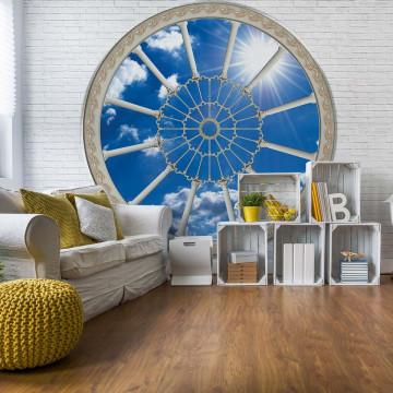 Sky Ornamental Window View Photo Wallpaper Wall Mural