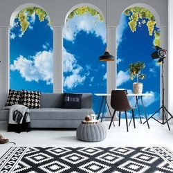 Sky Vines 3D Archway View Photo Wallpaper Wall Mural