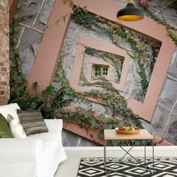 Spiral Window Photo Wallpaper Mural