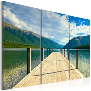 Tablou - A pier on the lake