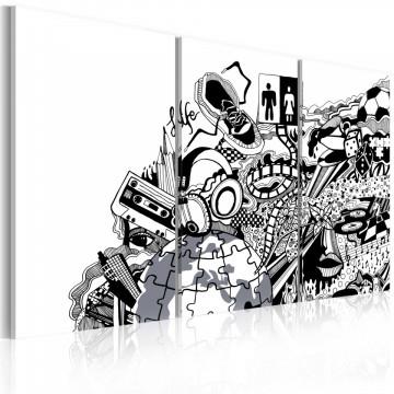 Tablou - Artistic mess - triptych