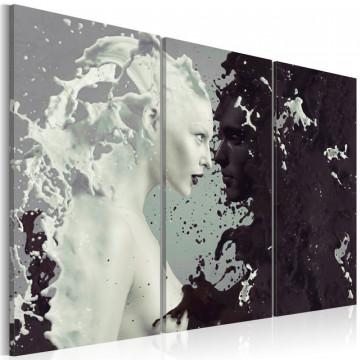 Tablou - Black or white? - triptych