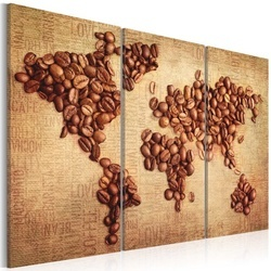 Tablou - Coffee from around the world - triptych