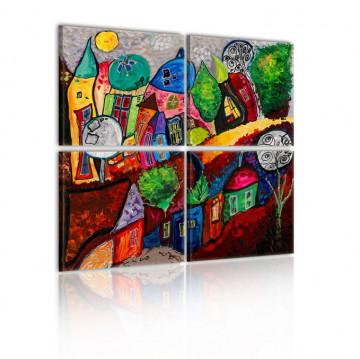 Tablou - Colourful city