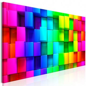 Tablou - Colourful Cubes (5 Parts) Narrow