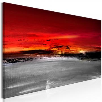 Tablou - Crimson Landscape (1 Part) Narrow