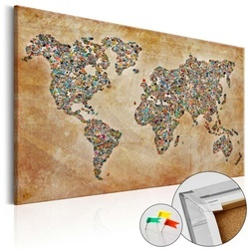 Tablou din plută - Postcards from the World [Cork Map]