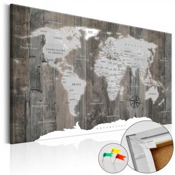 Tablou din plută - World of Wood [Cork Map]