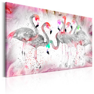 Tablou - Flamingoes Family