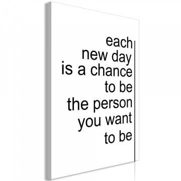 Tablou - Inspirational Quotes (1 Part) Vertical