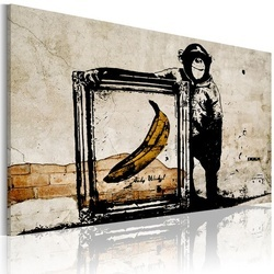 Tablou - Inspired by Banksy - sepia