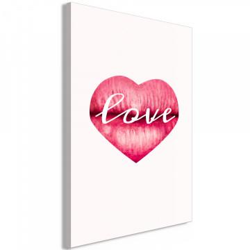 Tablou - Love Lips (1 Part) Vertical