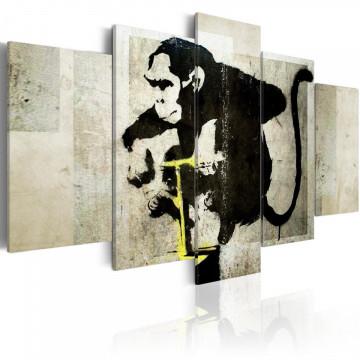 Tablou - Monkey TNT Detonator (Banksy)