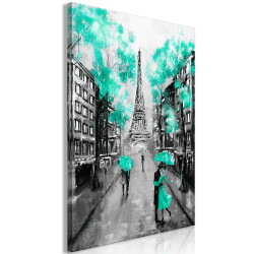 Tablou - Paris Rendez-Vous (1 Part) Vertical Green