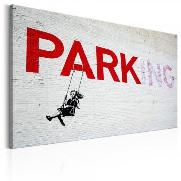 Tablou - Parking Girl Swing by Banksy
