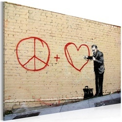 Tablou - Peace and love doctor (Banksy)