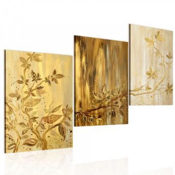 Tablou pictat manual - Golden leaves
