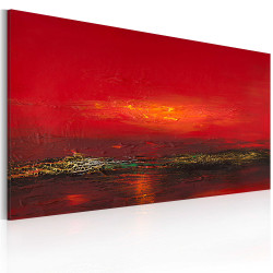 Tablou pictat manual - Red sunset over the sea