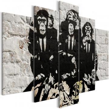 Tablou - Rich Monkeys (5 Parts) Wide