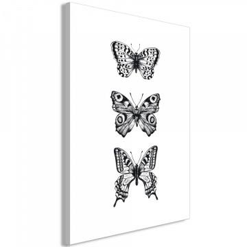 Tablou - Three Butterflies (1 Part) Vertical