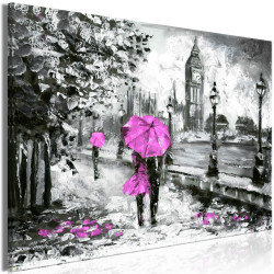 Tablou - Walk in London (1 Part) Wide Pink