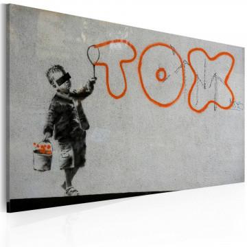 Tablou - Wallpaper graffiti (Banksy)
