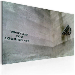 Tablou - What are you looking at? (Banksy)