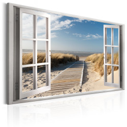 Tablou - Window: View of the Beach