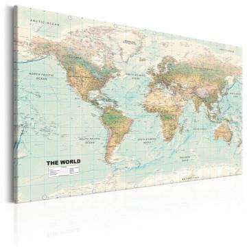 Tablou - World Map: Beautiful World