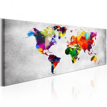Tablou - World Map: Coloured Revolution