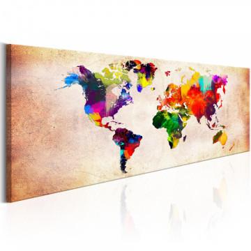 Tablou - World Map: Colourful Ramble