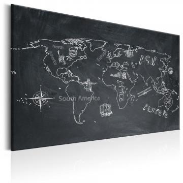 Tablou - World Map: Travel broadens the Mind