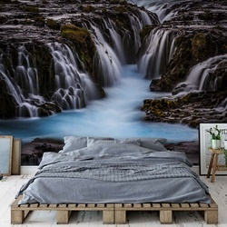 The Blue Beauty Photo Wallpaper Mural