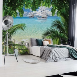 Tropical Beach Paradise Island Photo Wallpaper Wall Mural