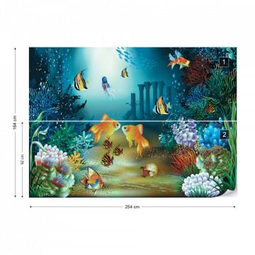 Undersea Fish Photo Wallpaper Wall Mural