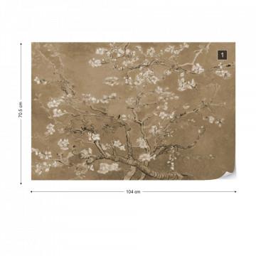 Van Gogh Blossoms in Sepia