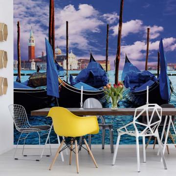 Venice Gondolas Photo Wallpaper Wall Mural