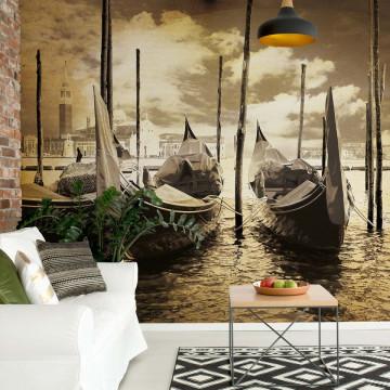 Venice Vintage Sepia Photo Wallpaper Wall Mural