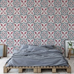 Vintage Tiles Pattern Photo Wallpaper Wall Mural