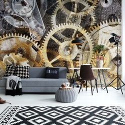 Watch Mechanism Time Photo Wallpaper Wall Mural