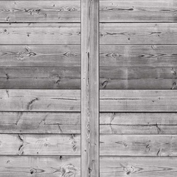 Wood Plank Texture Black And White Photo Wallpaper Wall Mural