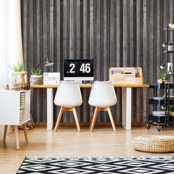 Wood Planks Grey Brown Photo Wallpaper Wall Mural