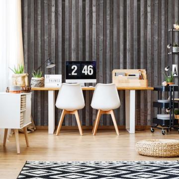 Wood Planks Grey Brown Photo Wallpaper Wall Mural