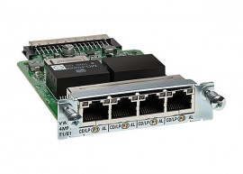 4-Port 3rd Gen Multiflex Trunk Voice/WAN Int. Card - T1/E1